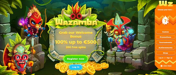 Wazamba - 500 euroon asti + 200 ilmaiskierrosta