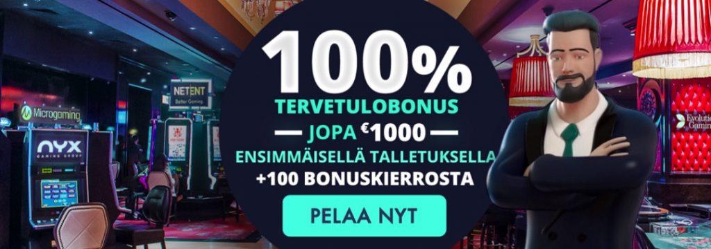 Jonny Jackpot - 100% bonus jopa 1.000 € sekä 100 ilmaiskierrosta