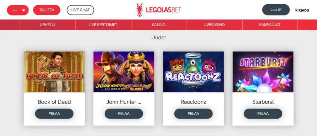 Legolasbet- 200 %n bonuksen 50 euroon saakka sekä 50 ilmaiskierrosta