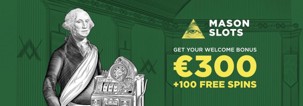 Mason Slots - 150€ bonus ja 50 ilmaiskierrosta